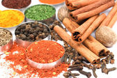 Ground red pepper and other spices — Stock Photo