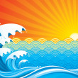 Surf Sun — Stock Vector