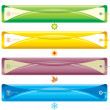 Four Season bookmark banner - Stok Vektör