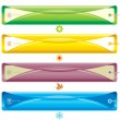 Four Season bookmark banner - 图库矢量图片