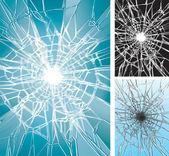 Kırık pencere — Stok Vektör