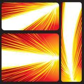 Bandiera rossa incandescente — Vettoriale Stock