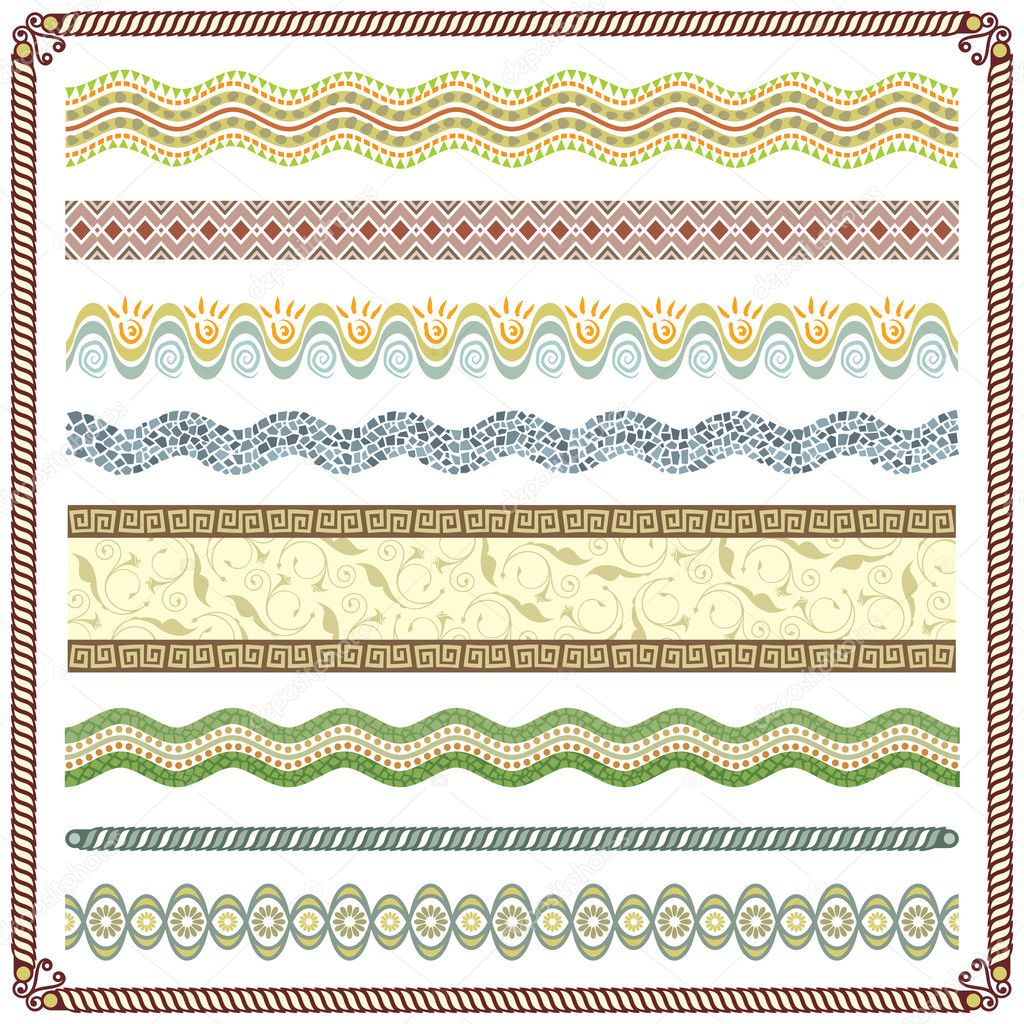 Vector illustration of  Pattern decor, Colors are grouped and Layered. — Stock Vector #1800998