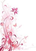 Floral_Grunge_Pink — Stock Vector