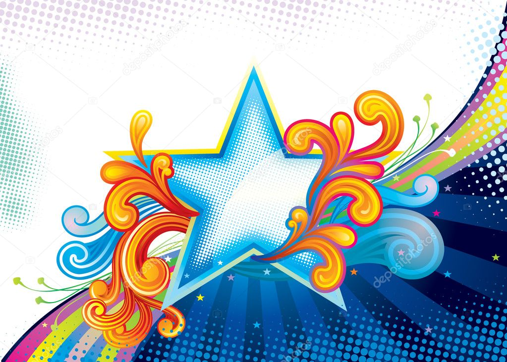 Elegance Star Shape, vector illustration layered file. — Stock Vector #1850126
