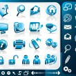 Vector de stock : Icon Set Of Internet