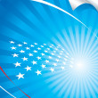 UsFlag And Background — Vector de stock #1975494