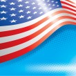 Vector de stock : US Flag And Halftone Effects