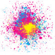 Colorful Splashing — Imagen vectorial