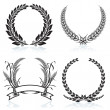 Stockvector : Laurel Wreaths