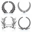 Stock vektor: Laurel Wreaths