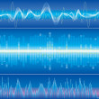 Sound Wave Background — Stock Vector