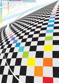 Espace carré moderne — Vecteur