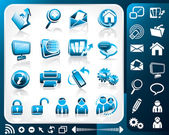 Icon Set Of Internet — Vettoriale Stock