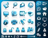 Zestaw ikona internet — Wektor stockowy