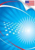 美国国旗和背景 — 图库矢量图片