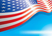 US Flag And Halftone Effects — 图库矢量图片