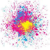Kleurrijke spatten — Stockvector