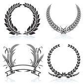 Laurel Wreaths — Vettoriale Stock