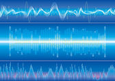 Sound Wave Background — Vettoriale Stock