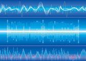 Zvukové vlny pozadí — Stock vektor