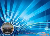 Concept auto racing — Stockvector