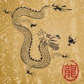 Antike chinesische drache — Stockvektor