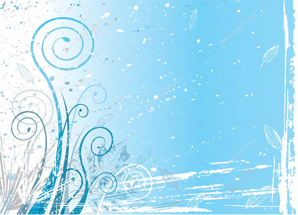 Winter flora background, vector illustration layered. — Stock Vector #2401372
