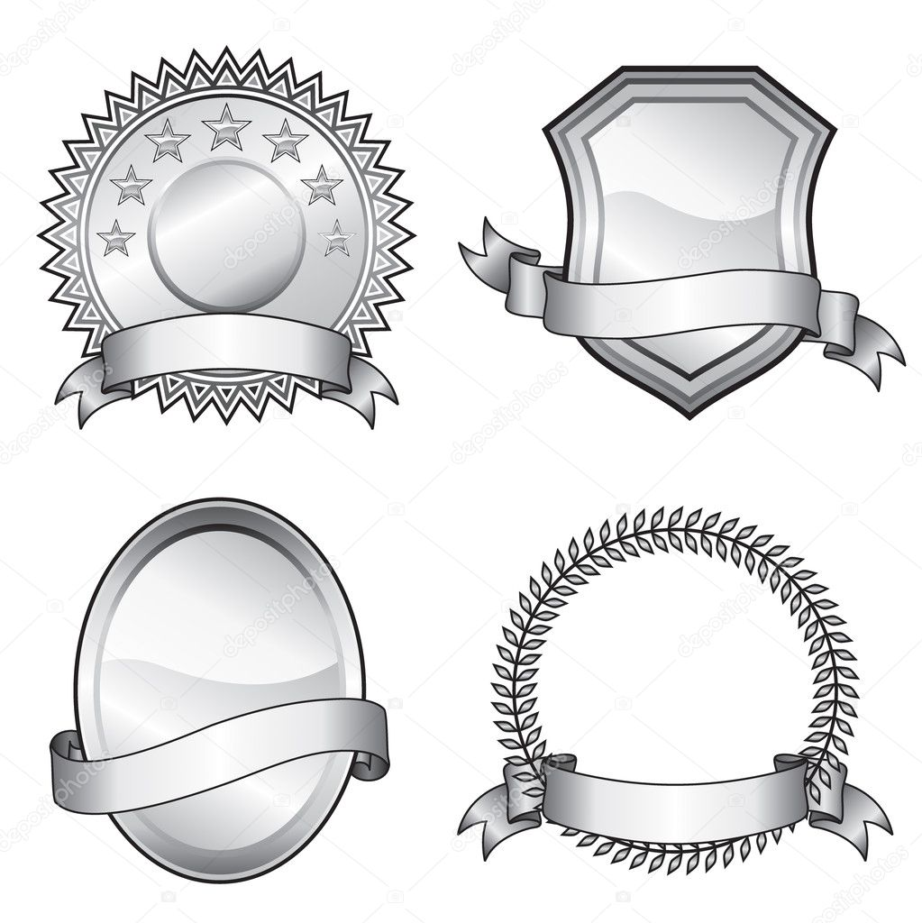 Black and white vector format of emblem elements.  Stock Vector #2499806