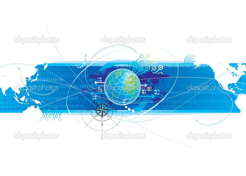 Global communications design of vector illustration layered. — Stock Vector #2499905