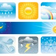 Weather And Climate - Imagen vectorial