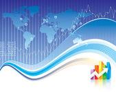 Finanza globale — Vettoriale Stock