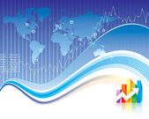 Finanzas globales — Vector de stock