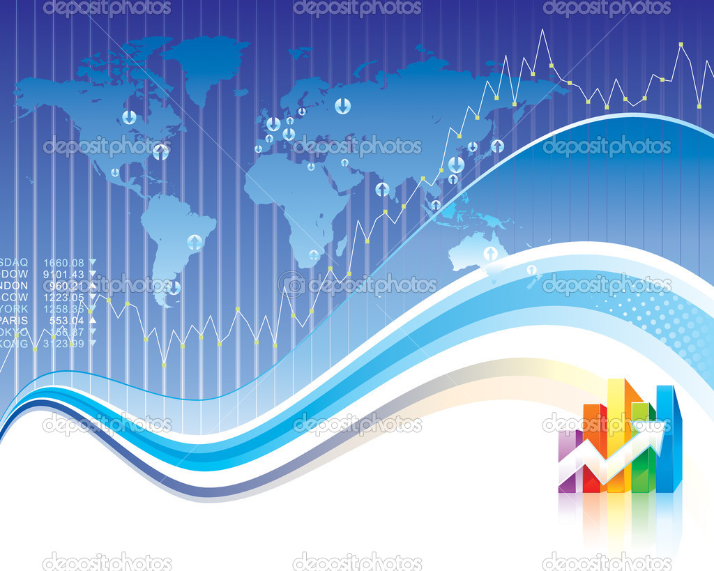 Global Finance design of vector illustration layered.  Stock Vector #2500125