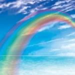 Rainbow Across Sea — Stock Photo