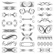 Vector file of black and white design elements. — Stock Vector #2514570