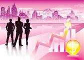 Urban Commercial — Stock Vector