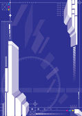Blue Color 3D Structure — Stock Vector