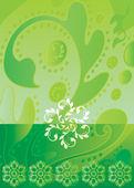 Batik Green — Stock Vector