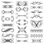 Archivo de vector de elementos de diseño blanco y negro. — Vector de stock