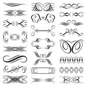 Vector file of black and white design elements. — Vector de stock