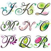 字母元素 — 图库矢量图片