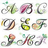 Elementi di alfabeti — Vettoriale Stock