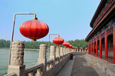 Embankment in chinese style — Stock Photo