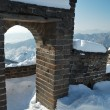 Stock Photo: Great wall under the snow