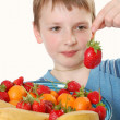 Stock Photo: Fruit boy