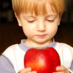 Apple boy — Stock Photo