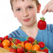 Fruit boy — Stock Photo