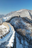 Great wall under the snow — Stock Photo