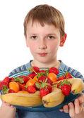 Fruit boy — Stock Photo